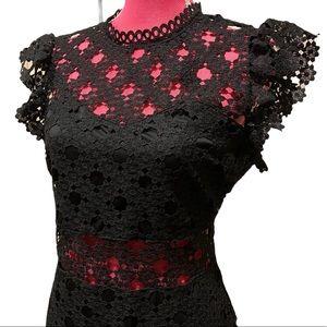 Norstrom just me crochet dress black size L